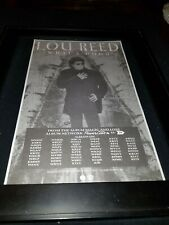 Lou Reed What's Good Rare Original Radio Promo Poster Ad Framed! #2