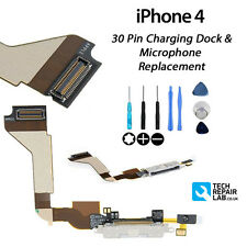 NEW Replacement Charging Dock/Port with Microphone FREE Tools FOR iPhone 4 WHITE