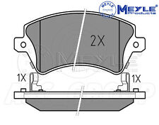Meyle Brake Pad Set, Front Axle With anti-squeak plate 025 237 6617/W