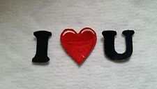 I love you  heart shaped patch 3 patches Iron on sew on