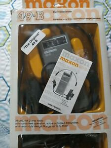Maxon vintage 49-B Two Way Radio with Hands Free Headset and Pwr Adapters