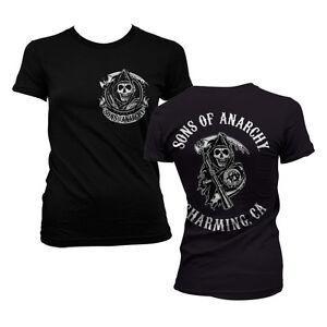 Officially Licensed SOA - Full CA Backprint Women's T-Shirt S-XXL Sizes