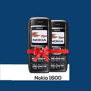 Nokia 1600 - BLACK (Unlocked) Mobile Phone New Cheap Simple Warranty UK Seller
