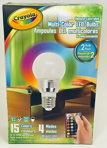 Crayola Remote Controlled Multi-Color LED Bulb 4 Modes 15 Color Changing  NEW