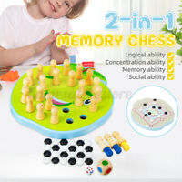 2-in-1 Wooden Memory Chess Baby Kids Educational Toys Parent-Child Leisure