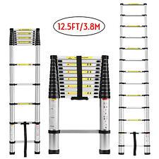 12.5FT Aluminium Ladders Telescoping Multi-Purpose Extension Ladder