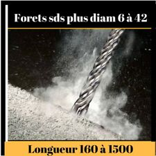 Foret mèche béton sds plus diam 6 à 42 mm long 160 à 1000 mm  REF PRSDST...
