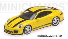 Minichamps 870066222- Porsche 911 R – 2016 – Giallo W/ Nero Stripes And Nero