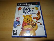 Disney Winnie the pooh's RUMBLY TUMBLY ADVENTURE PLAYSTATION 2 PS2 NUEVO