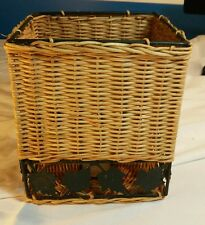 Wicker and metal Kleenex box/cover