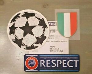 patch toppa BADGE scudetto + respect + champions league juve 2021 2020 2019 J