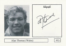 Alan Thomas WALES RUGBY PLAYER SIGNED PHOTO CARD ORIGINAL AUTOGRAPH