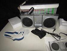 1980s Airmate PO-168 AM/FM Stereo Portable Mini Boombox Radio + Accessories