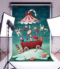 Snow Santa Claus Photography Backgrounds 3x5ft Vinyl Photo Backdrops