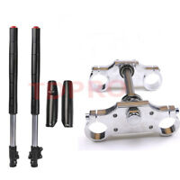 Complete Front Forks Assembly Triple Tree Clamp for Dirt Pit Bike 110cc 125cc