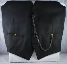 New listing 12in. Hematite black-plated medium-weight Albert style pocket watch chain