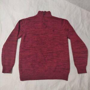 "Calvin Klein 1/4 Zip Sweater Boys L(14-16) (Chest:34"" / Front L:22.5"")"