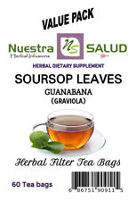 Soursop Tea Hoja de Guanabana Filter Tea Value Pack (60 tea bags)