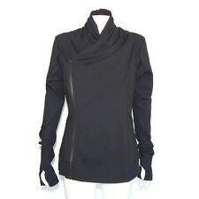 Lululemon Stylish Diagonal Zip Draped Collar Jacket Running Sports size 12 - 179