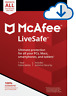 Mcafee LiveSafe 2019 1 Year Unlimited Devices *DOWNLOAD VERISION**25 DIGIT KEY*