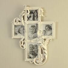 In legno bianco decapé da parete intagliato fotografie cornice per foto