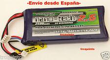 Batería Lipo, 11,1v 2500mA 5C 3S1P, especial emisoras, (Futaba 6EX y 3PKS)