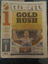 i NEWSPAPER- Aug 15 2016- Rio 2016 Olympics Gold Rush Farah,Trott,Rose and Kenny