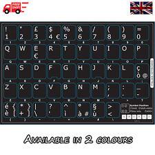 ADESIVI Tastiera Nera Italiana con le Lettere Bianco per PC Laptop Computer