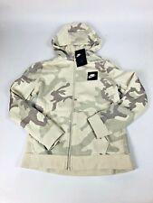 Nike Camo Full Zip Hoodie Kids Boys Jacket AQ5772-072 Black Logo Swoosh