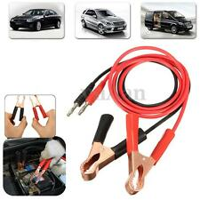 1 pair 15A Banana Plug to 80mm Car Battery Power Alligator Cable Clip Clamp 1m