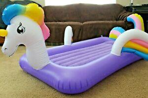 "Kids Unicorn Airbed Ozark Trail Purple Bed Insert Max 159lbs 55"" Length Open Box"