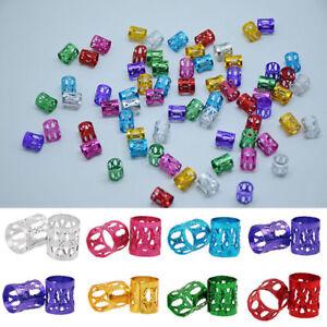 10/20/30Pcs Adjustable Metal Cuffs Dreadlocks Beads Braiding Hair Decorations BC