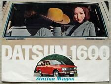 DATSUN 1600 STATION WAGON Estate Car Sales Brochure 1970 #PE 6081-902120