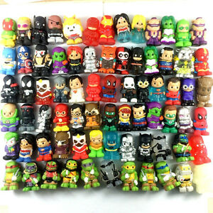 Random 10PCS Ooshies DC Comics Marvel Heroes WWE Pencil Toppers Kids Toys