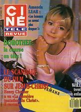 CINE REVUE 1988 N°37 dorothee amanda lear guy lux bruce willis hasselhoff