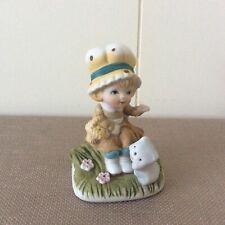 Home Interiors Homco Porcelain Little Girl with her Kittie 1430