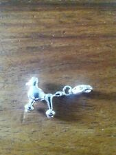 """Clip On enamel Charm little silver colour french poodle . New. Approx 1"""""""