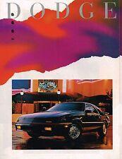 1989 Dodge Brochure : DAYTONA,DYNASTY,SHADOW,SPIRIT,CARAVAN,LANCER,SHELBY,COLT,