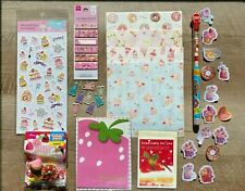 KAWAII DAISO JAPAN STATIONERY LOT LETTER SET BAKERY STRAWBERRY *SWEET DESSERTS*