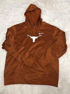 Nike Texas Longhorns Orange Pullover Hoodie Mens Size XL BQ8569-802
