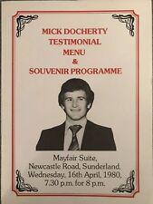More details for mick docherty testimonial menu & souvenir programme with autographs 1980