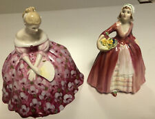 """Vintage Royal Doulton Figurines """"Janet"""" Hand Signed And """"Victoria """" Mint"""