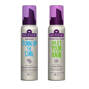 Aussie Turn Up The Curl or Uplift Your Hair Mousse 150ml Volume Conditioning