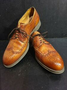 Magnanni Brown Wing Tip Shoes With Rubber Walking Sole, New, No Box, Size 11 M