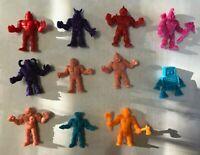 Vintage Mattel M.U.S.C.L.E. Action Figures Muscle Men Lot of 11