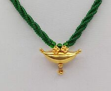 RARE VINTAGE ANTIQUE SOLID GOLD PENDANT AMULET NECKLACE MOTHER'S DAY JEWELRY