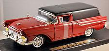 Ford Mensajero Sedan Delivery 1957 rojo rojo 1:18 Yat Ming