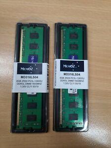 8GB DDR3 RAM for Desktop 2x 4GB PC3L 12800 Memory 1600Mhz Memoz 5 Years Warranty