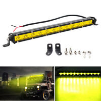 Yellow 13inch 36W Led Work Light Bar Spot SUV Boat Driving Offroad Fog Lamp