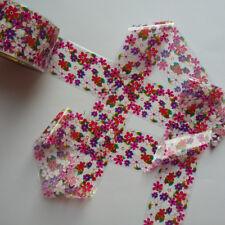 CLEAR PURPLE FLOWERS Nail Art Foil Decoration Wrap Transfer